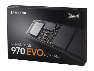 SAMSUNG 970 EVO M.2 2280 250GB PCIe Gen3. X4, NVMe 1.3 64L V-NAND 3-bit MLC Inte
