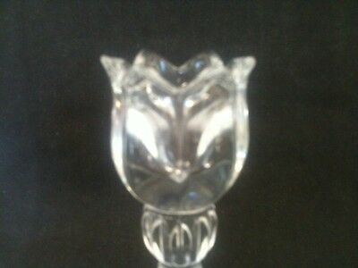 """Pair Mikasa 5"""" Tall Lead Crystal Spring Ritual Candle Holders Original Stickers 2"""