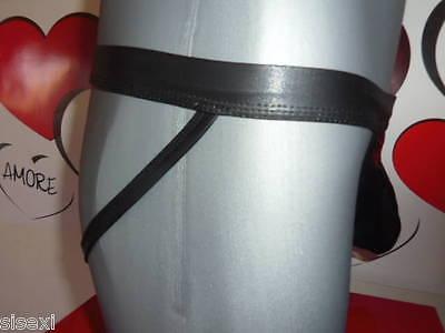 Jockstrap Slip Boxer Anneau Vinyle Sexy Homme Thong Man Underwear Cuir Uomo Mann 6