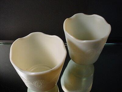 Rare Steuben Art Glass Pair of Calcite Engraved Shades 2663 Art Nouveau 1915