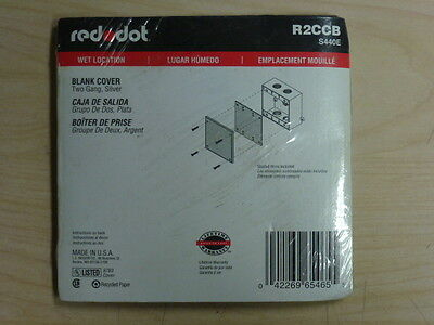 NOS! LOT of (3) RED DOT 1 & 2-GANG MILL FINISH BLANK WALL PLATE, WET LOCATION 2