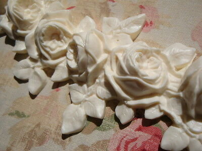 Large FRENCH ROSE SWAG GARLAND Furniture Applique Architectural Pediment 5