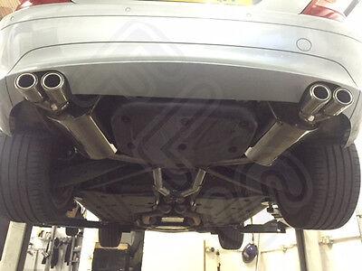 Mercedes SLK Stainless Steel Exhaust Cat Back Dual System & AMG Style Tips MSLK1