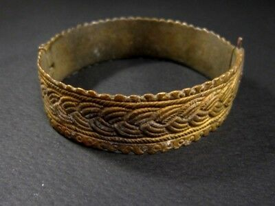 Magnificent 1800 Antique Bronze Bracelet In Two Movable Parts!!! 3