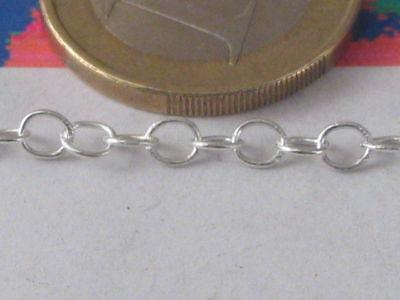 10 cm di catena in argento 925 sterling anellini di 3,5x0,5 mm made in italy 2