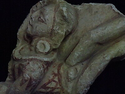 Ancient Large Size Polychrome Stucco Hanging Figure Gandhara/Gandharan 100 AD 2