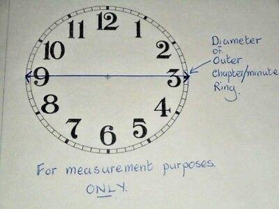 "Ogee Wall/Shelf Paper Clock Dial- 6 3/4"" M/T- Floral- MATT WHITE -Parts/Spares 4"