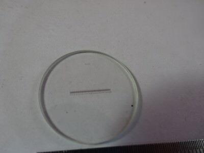 Réticule Micromètre pour Oculaire Microscope Optiques Tel Quel &51-a-48 2