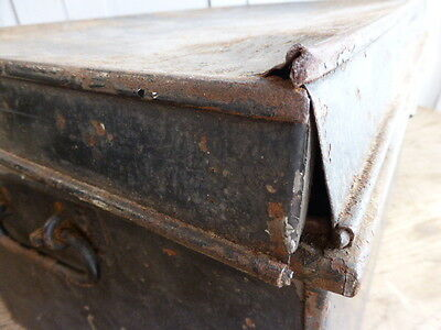Antique metal deed box by George Hall Fetter Lane London 6