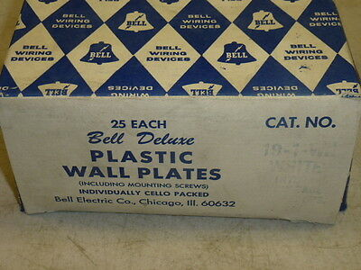Nos! (2) Bell Interchange Single Gang Wall Plate, 3-Hole Horizontal, 19-1-White 2