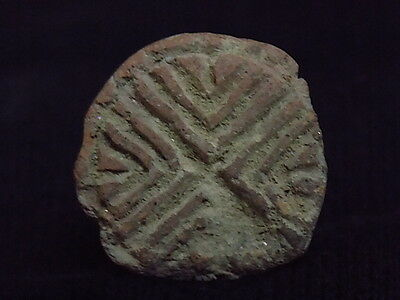 Ancient Teracotta 2 Sided Seal Indus Valley 2000 BC      #SG8697 3