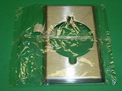 NOS! Lot (10) EAGLE 1-GANG SINGLE RECEPT, STAINLESS STEEL WALLPLATE, # 97221-BOX