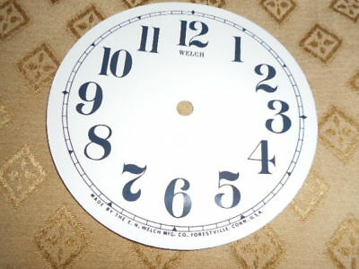 For American Clocks- Round Welch Paper Clock Dial-123mm M/T-Arabic-Clock Parts