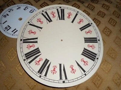 "Round Vienna Style Paper Clock Dial - 8"" M/T - GLOSS CREAM-Face/ Parts /Spares 4"