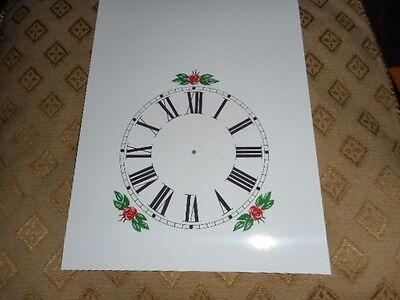 """Steeple Paper Clock Dial - 5"""" M/T - Roman - White-Floral - Face /Clock Parts 2 • EUR 4,38"""