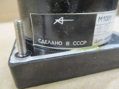 Voltmeter М1001 scale 0-100V accuracy class 1.5 USSR 1985 2