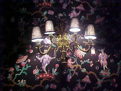 """Wall Sconces Antique 4 Light Brass Rewired 19"""" High 19"""" Wide (Lot Of 2) 11"""