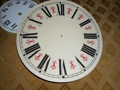 """Round Vienna Style Paper (Card) Clock Dial - 8"""" M/T - GLOSS CREAM-Parts /Spares 5"""