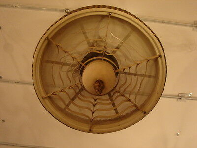 Art Deco Vintage Pair Metalwork Chandeliers 3