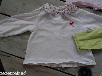 Lot vêtements OBAÏBI 1 gilet rose clair et 1 anis + polo Taille 6 mois / 67 cm 2