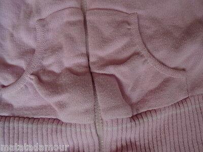 Gilet à capuche rose imprimé dos ZARA GIRLS Taille 2 ans / 24 mois / 86-92cm 4