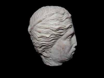 HELLENISTIC TERRACOTA HEAD OF A YOUNG PRINCE as GREEK GOD DIONYSIUS, REPLICA!!! 3