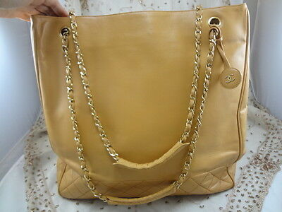 82ffbe82ee3f ... Authentic VINTAGE JUMBO Chanel GST Neverfull Grand Shopper TOTE Bag  Purse T123 2