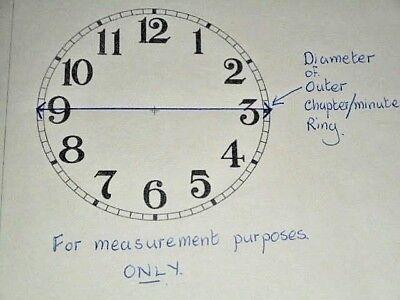 "Ingraham Shelf/Mantle Paper Clock Dial-  4 1/2"" M/T - MATT WHITE- Parts/Spares # 4"