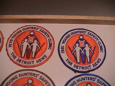 Lot /10 Detroit Michigan News 1977-1987 Youth Hunter Safety Gun Hunting Patches 4