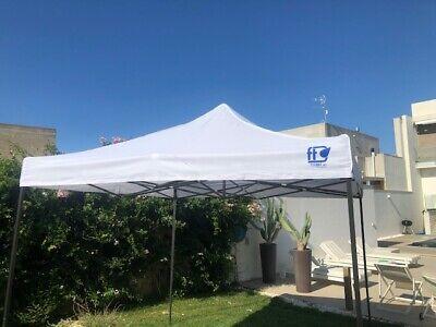 Gazebo Pieghevole 3X3 Richiudibile Con Sacca Tenda Tendone Mercato Fiera 2