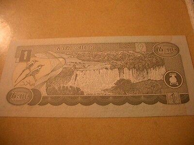 Bank Of Ethiopia Banknote 1 Birr Unc