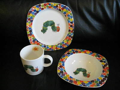 PORTMEIRION THE VERY Hungry Caterpillar 3 Piece Plate Bowl Mug & Amusing Very Hungry Caterpillar Bowl Set Photos - Best Image Engine ...