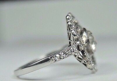 Antique Art Deco Vintage Diamond Platinum Engagement Ring Size 6.25 EGL USA Fine 5