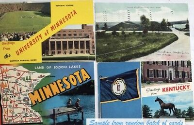 Vintage lot of postcards ~ 30 Random Postcards from the 1920s to '70s - Historic
