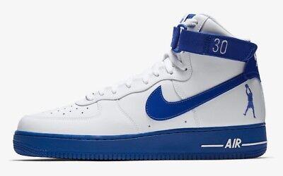 Mens Nike Air Force 1 High Rasheed Wallace Sheed Patent Black Blue Super Deals