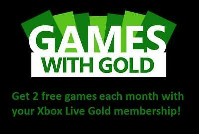 1 Monat Xbox Live Gold Mitgliedschaft Code MS Xbox 360 & Xbox One Ein Monat Key* 2