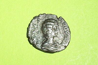 Ancient ROMAN SILVER COIN children JULIA DOMNA cheerful joy palm denarius child 2
