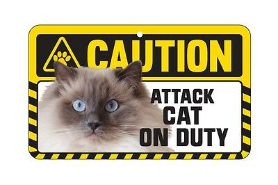 Cat Sign Caution Beware - Attack Cat On Duty - 7 Designs 4