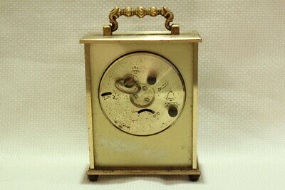 Antique 8 day Carriage Clock Jaccard with Porcelain Dial Working 9
