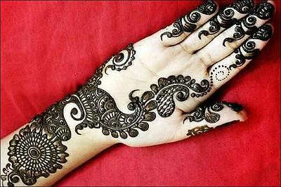 12 Black Golecha Henna Cones Temporary Body Paint Art Free 1