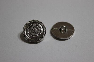 1092si 5 schlichte elegante silberfarben strukturierte Ösen Metall Knöpfe
