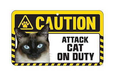 Cat Sign Caution Beware - Attack Cat On Duty - 7 Designs 6