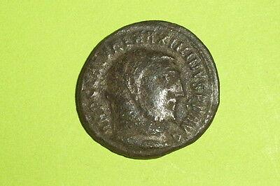 Genuine Ancient ROMAN COIN genius MAXIMINUS II DAIA 305 AD patera tool VG VF old 2