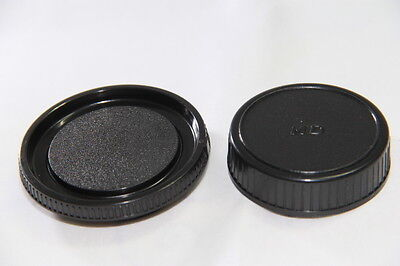 NEW Body /& Rear Lens Cap For Minolta MD Mount *UK Seller* SLR Film Camera Lens