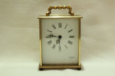 Antique 8 day Carriage Clock Jaccard with Porcelain Dial Working 12