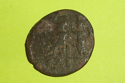 RARE Ancient ROMAN COIN roma city goddess JULIA DOMNA tyche EDESSA MACEDONIA old 2