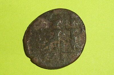 RARE Ancient ROMAN COIN roma city goddess JULIA DOMNA tyche EDESSA MACEDONIA old 2
