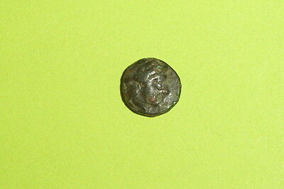 Ancient GREEK COIN crouching panther ISLANDS NEAR LESBOS 400 BC NESOS old cat 2