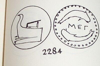 Ancient GREEK COIN dolphins prow MEGARIS MEGARA 317 BC boat old rare treasure 3