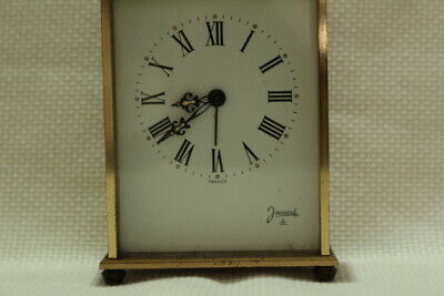 Antique 8 day Carriage Clock Jaccard with Porcelain Dial Working 3